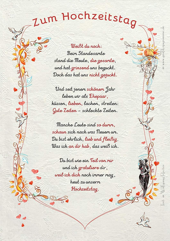 Glückwünsche Zur Hochzeit Für Sohn Und Schwiegertochter  Hochzeitstag Gedichte
