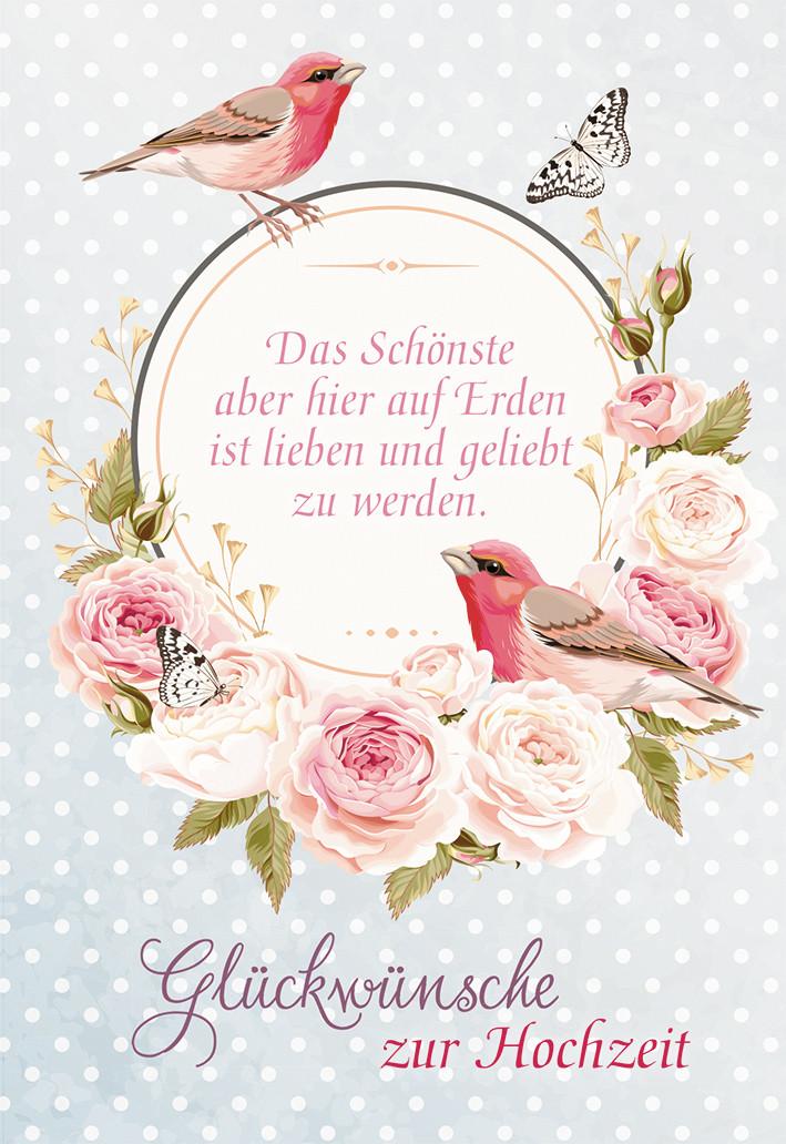 Glückwünsche Zur Hochzeit Von. Eltern Des Bräutigams  Glückwunschkarte Glückwünsche zur Hochzeit 6 St Rosen