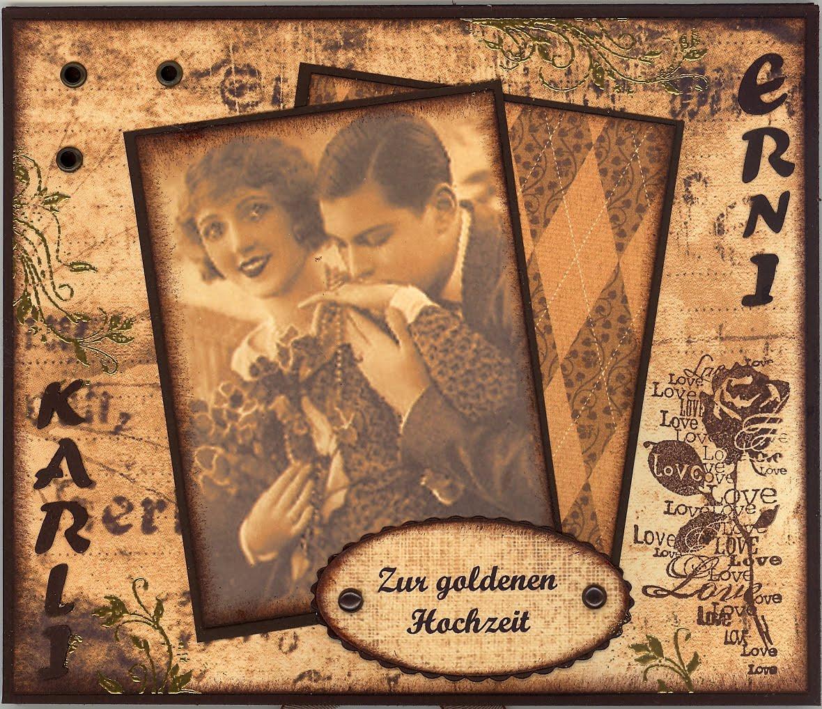 Goldenen Hochzeit  Heidis Creativblog Zur goldenen Hochzeit