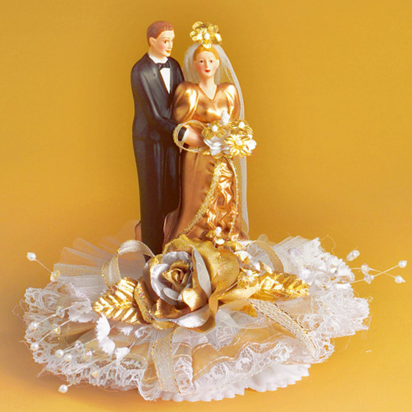 Goldenen Hochzeit  Porzellan Brautpaar zur goldenen Hochzeit