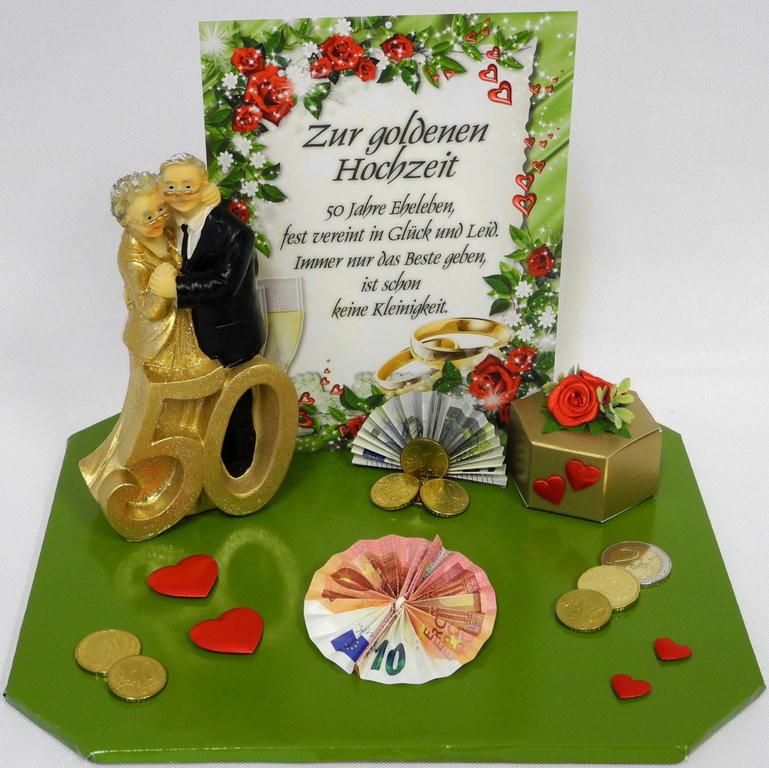 Goldenen Hochzeit  Geldgeschenk zur goldenen Hochzeit Goldpaar