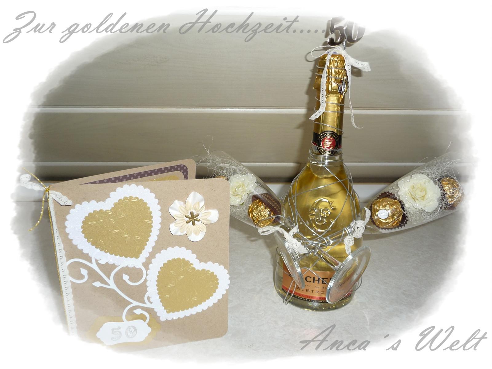 Goldenen Hochzeit  Anca´s Welt Goldene Hochzeit Karte Deko & Co