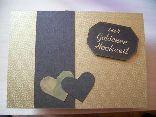 Goldenen Hochzeit  Willkommen in meiner kleinen Bastelwelt Karten zur