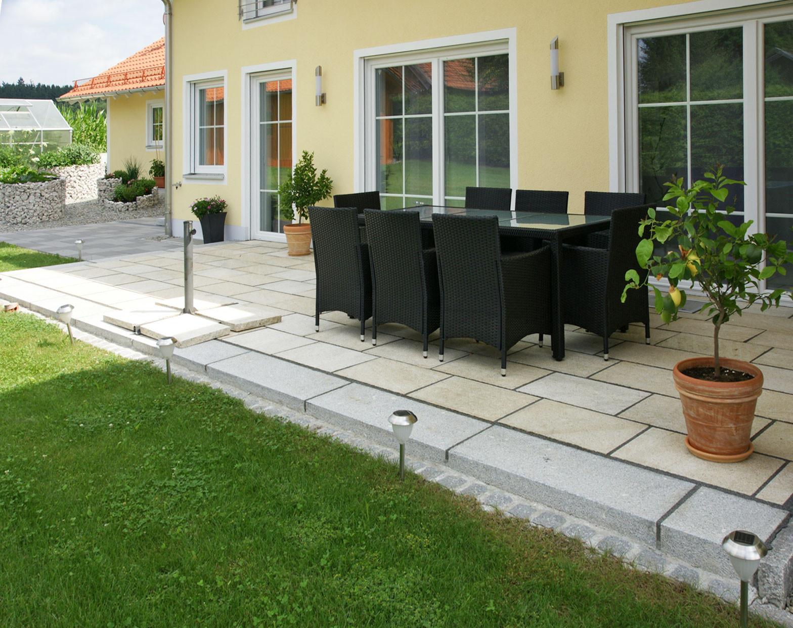 Granitplatten Terrasse  Terrasse – Bruckmeier Garten und Landschaftsbau