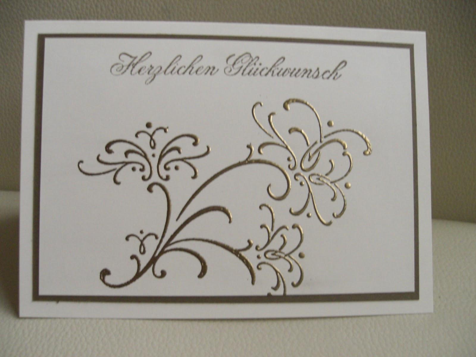 Gratulation Goldene Hochzeit  Steffis Bastelvielfalt Gratulation zur goldenen Hochzeit