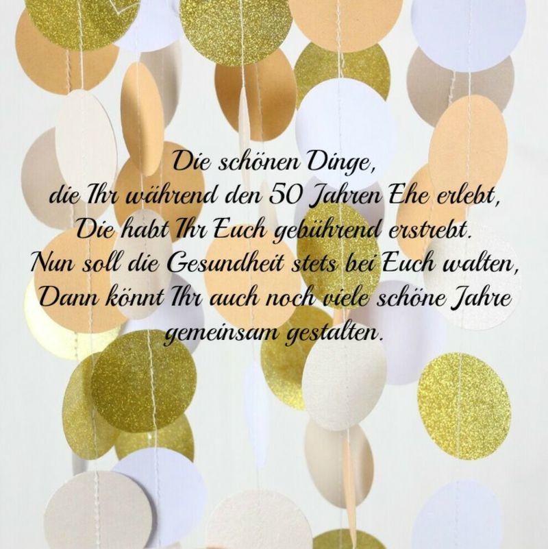 Gratulation Goldene Hochzeit  Wünsche goldene Hochzeit noch viele Jahre gemeisam