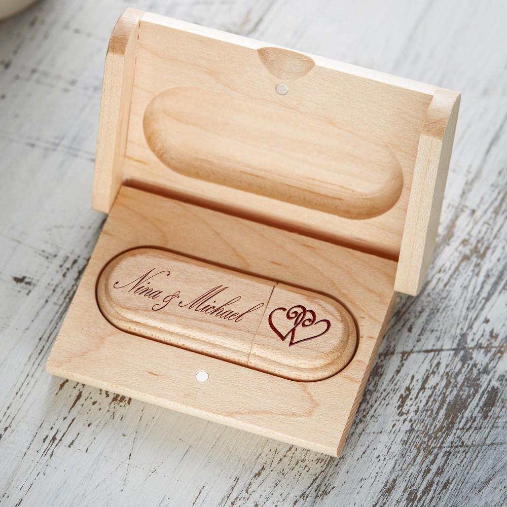 Gravur Hochzeit  USB Stick zur Hochzeit mit Gravur USB Stick graviert
