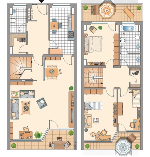 Grundriss Wohnung  Mietwohnungen in Wulfen Barkenberg