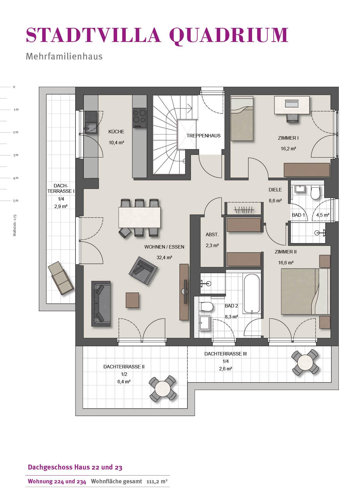 Grundriss Wohnung  Wohnungen Wilma Immobilien GmbH