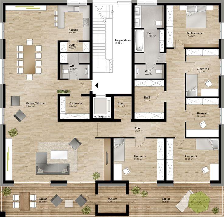Grundriss Wohnung  Die besten 25 Grundriss mehrfamilienhaus Ideen auf