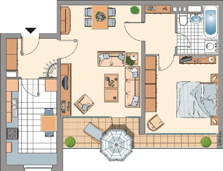 Grundriss Wohnung  Mietwohnungen in Ratingen West