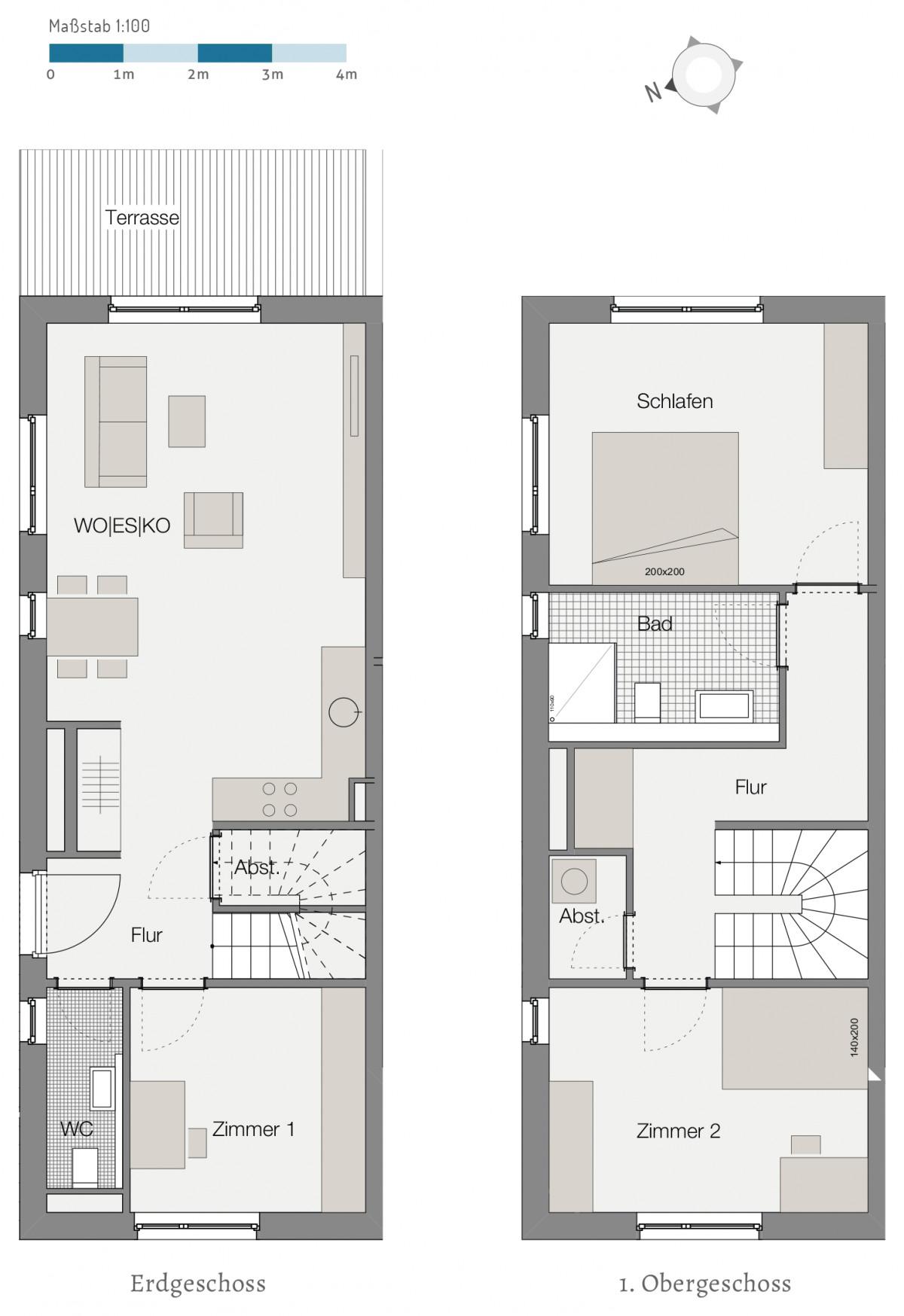 Grundriss Wohnung  Lebensart Großhansdorf Neubau von 11 Eigentumswohungen