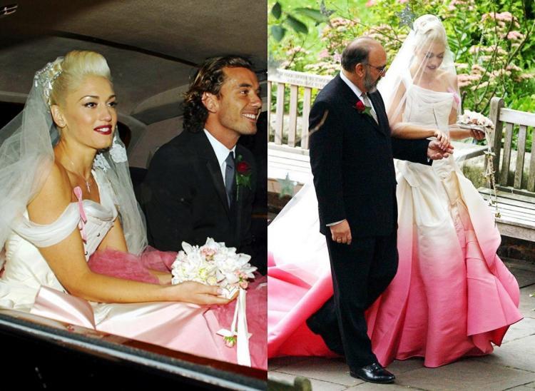 Gwen Stefani Hochzeitskleid  Hochzeitskleider der Stars von 1990 bis heute 15 Kleider