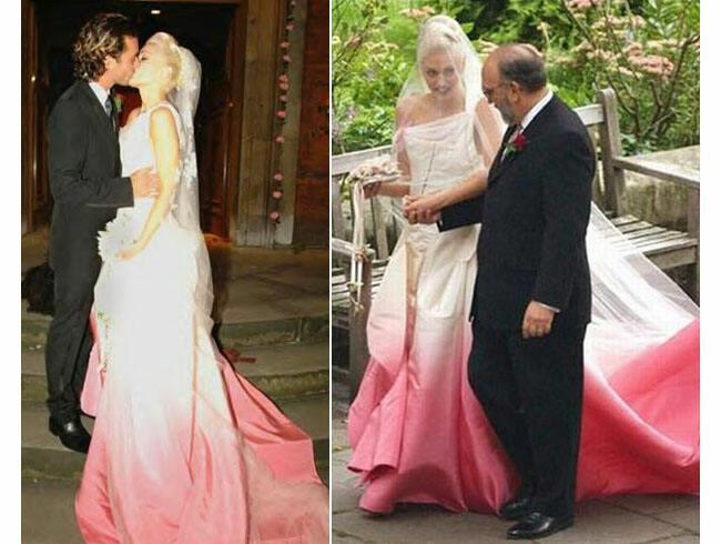 Gwen Stefani Hochzeitskleid  Gwen Stefani ombre wedding gown – Janet Carr