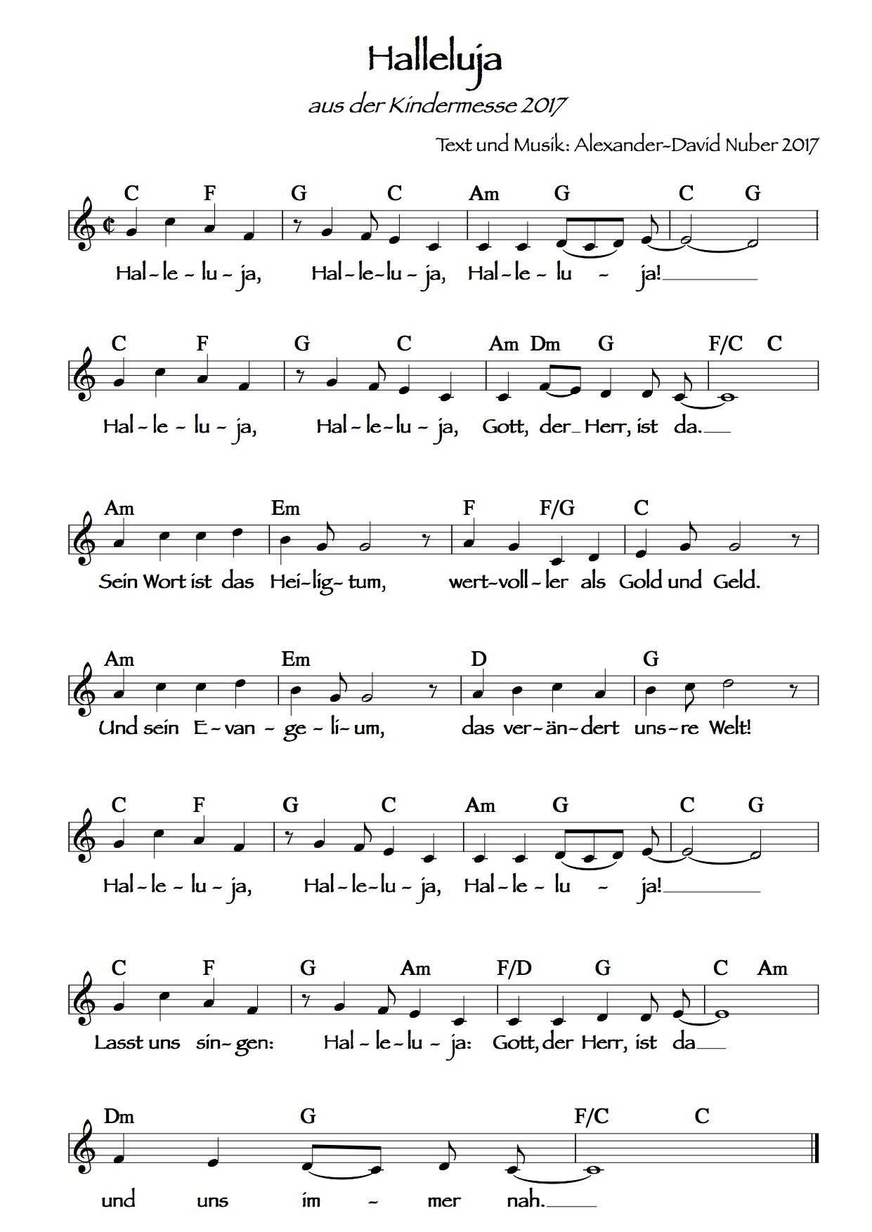 Hallelujah Deutsch Hochzeit  Hallelujah Hochzeit Text