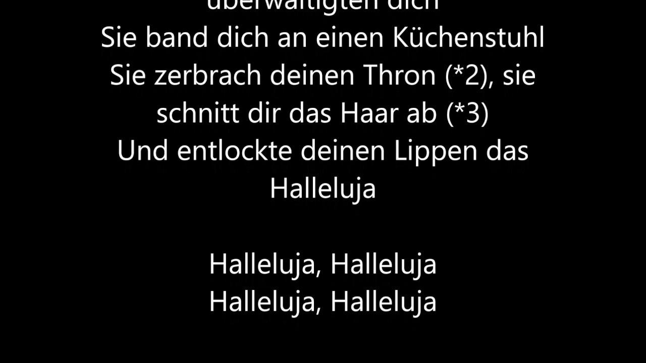 Hallelujah Deutsch Hochzeit  Leonard Cohen Hallelujah [Deutsche Übersetzung German