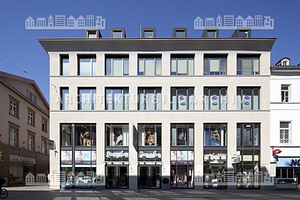 Haus 42 Wiesbaden  Geschäftshaus Kirchgasse 42 44 Wiesbaden Architektur