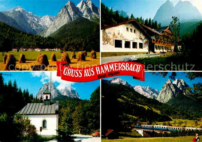 Haus Hammersbach  Beeindruckend Haus Hammersbach AK Ansichtskarte Grainau