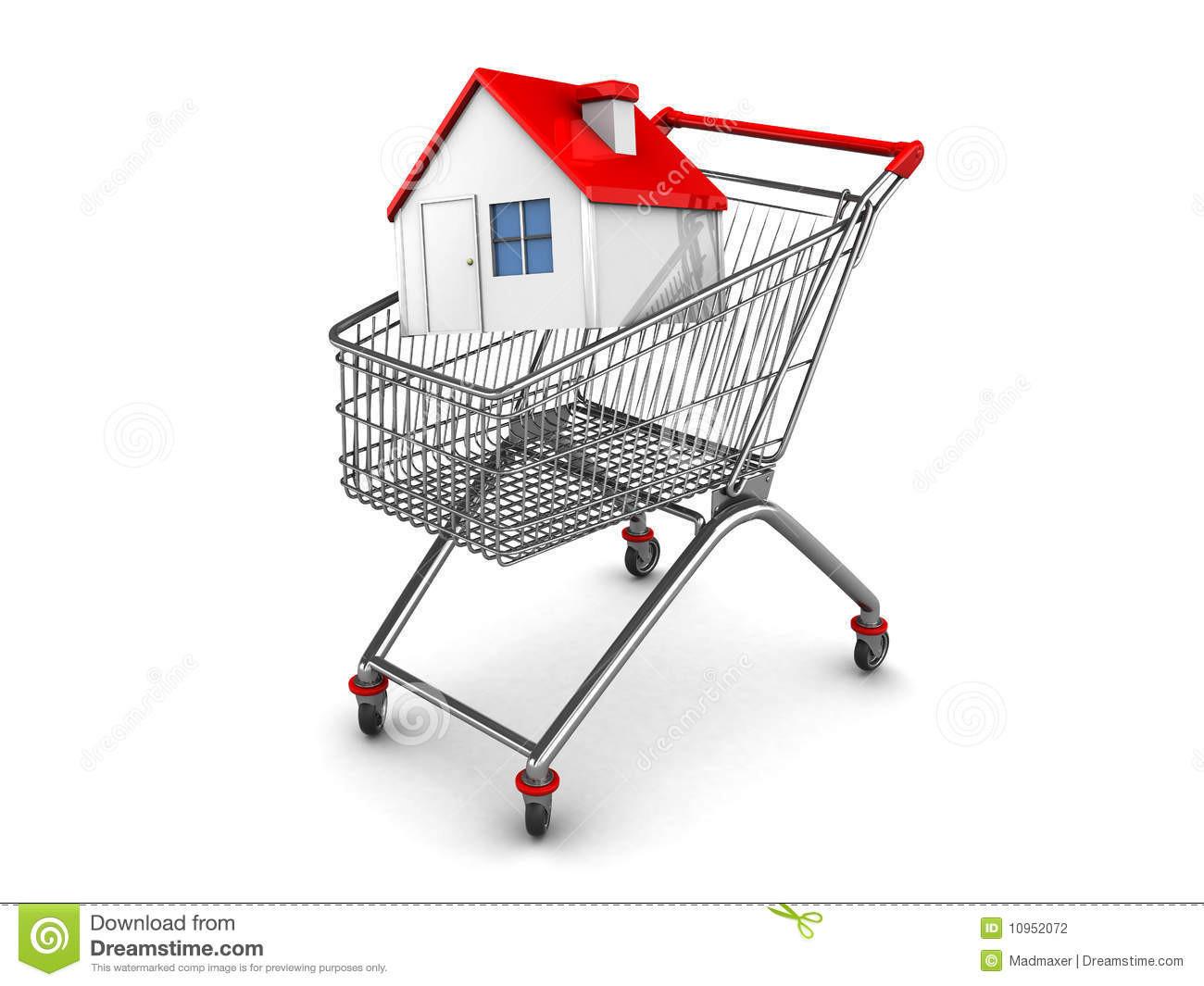 Haus Kauf  Hauskauf stock abbildung Bild von markt haupt winkel