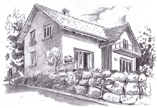 Haus Zeichnen  Architektur Land & Leben