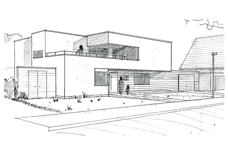 Haus Zeichnen  Architektur Haus Zeichnen Architekt Haus Zeichnen Kosten