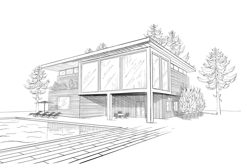 Haus Zeichnen  Haus In 3d Zeichnen haus planen haus planen 3d kostenlos