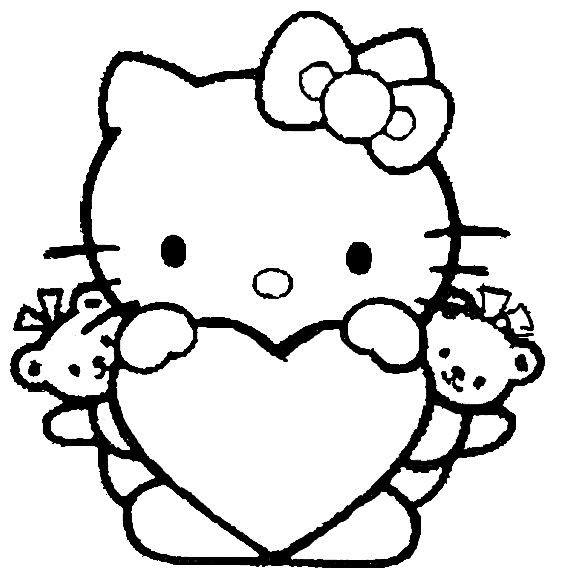 Hello Kitty Ausmalbilder  18 besten Hello Kitty Ausmalbilder Bilder auf Pinterest