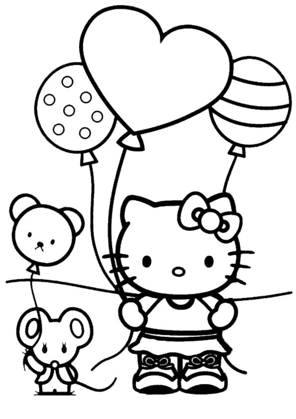 Hello Kitty Ausmalbilder  Ausmalbilder Geburstag Hello kitty 10