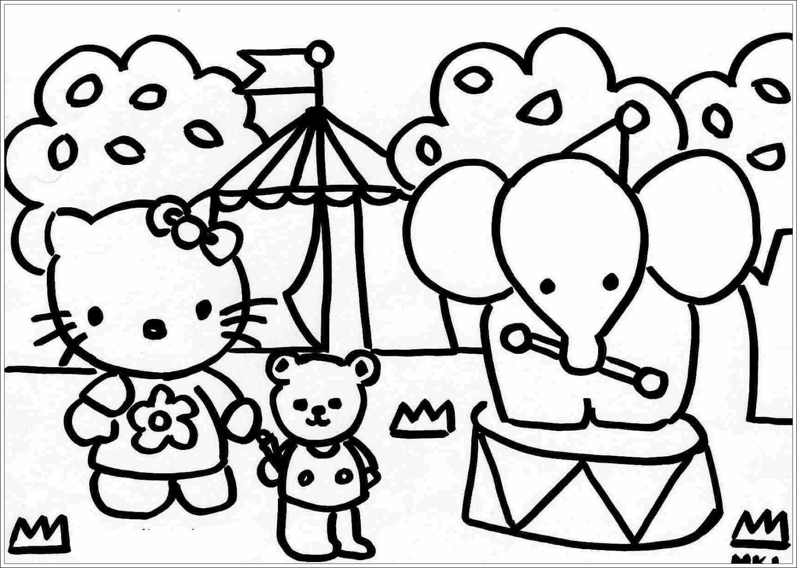 Hello Kitty Ausmalbilder  Ausmalbilder zum Ausdrucken Ausmalbilder von Hello Kitty