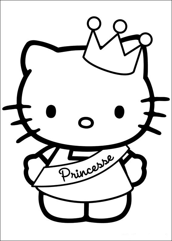 Hello Kitty Ausmalbilder  Hello Kitty ausmalbilder 10