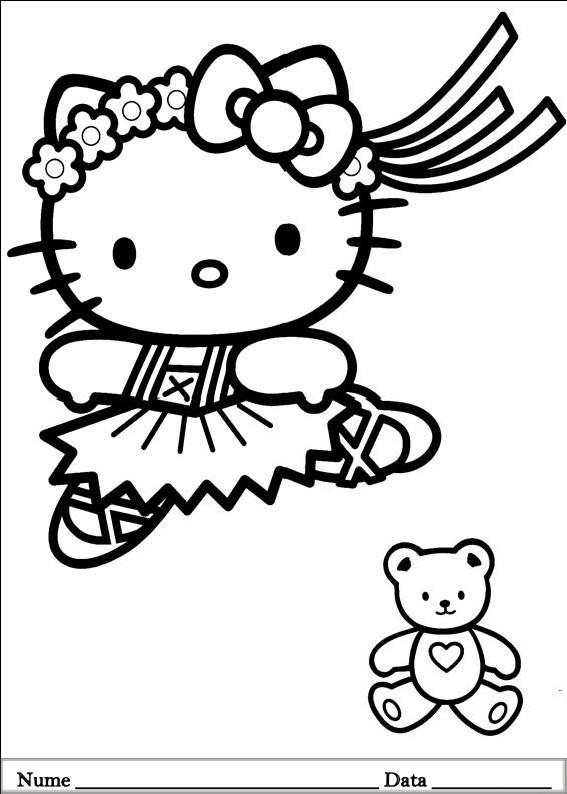 Hello Kitty Ausmalbilder  Hello Kitty Planse de colorat si educative
