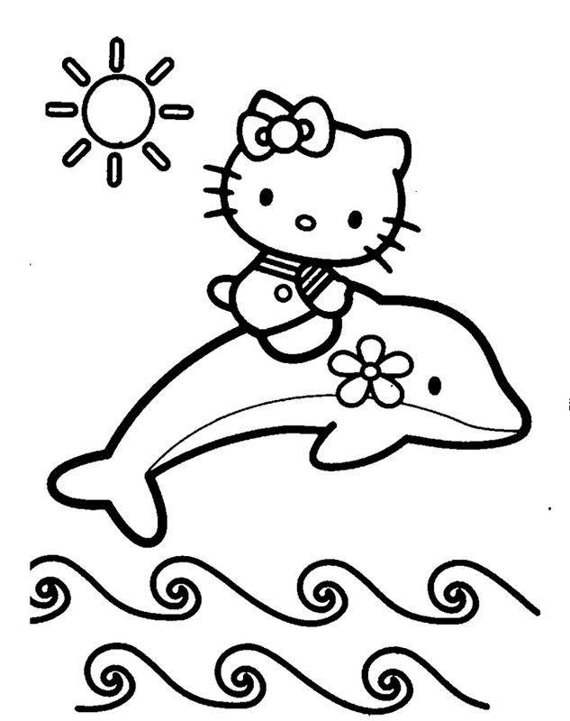 Hello Kitty Ausmalbilder  Die besten 25 Ausmalbilder hello kitty Ideen auf