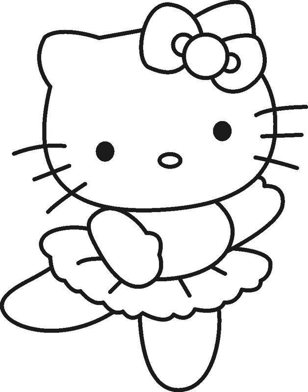 Hello Kitty Ausmalbilder  ausmalbild Kleine ballerina Hello Kitty