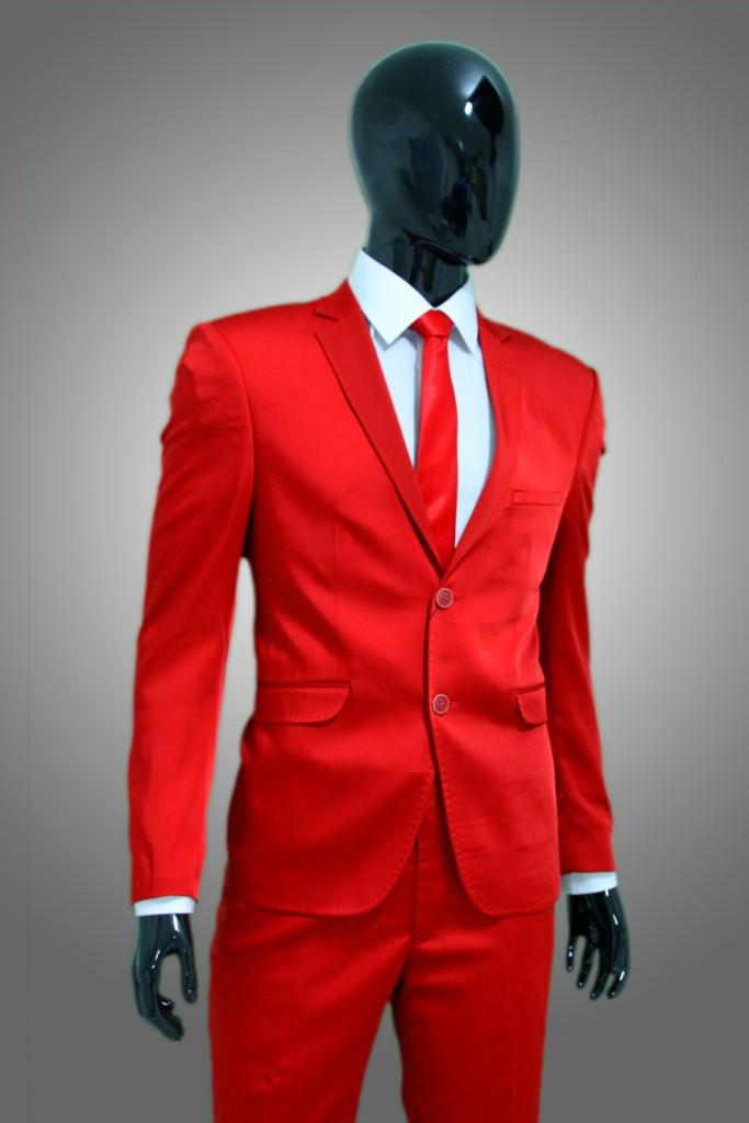Herrenanzug Hochzeit  Herrenanzug in Rot Satin Anzug Bühne Event Sakko