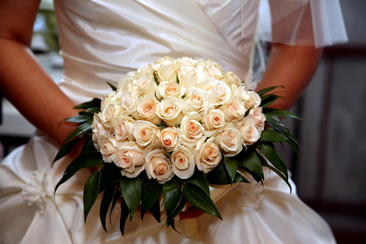Hintergrundbilder Hochzeit  Fotos Heirat Sträuße Rosen Blumen