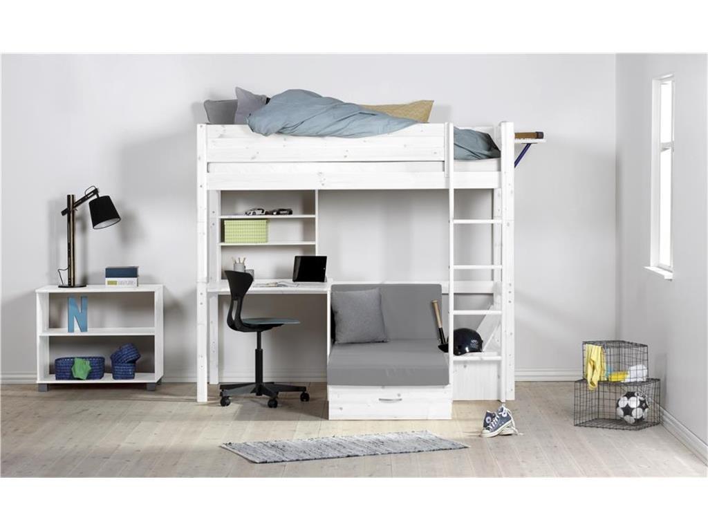 Hochbett Mit Schreibtisch  Flexa Basic Hochbett CASA mit gerader Leiter Flexa Basic