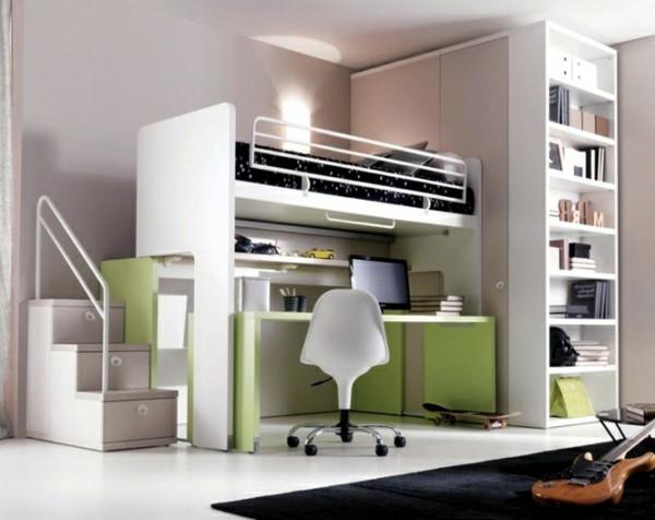 Hochbett Mit Schreibtisch  Hochbett mit Schreibtisch für das Kinderzimmer Archzine