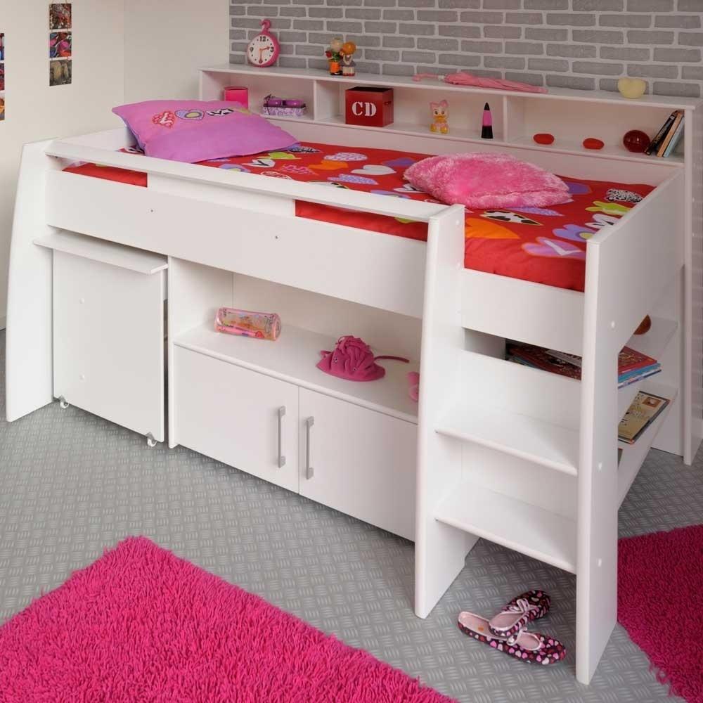 Hochbett Mit Schreibtisch  Hochbett Tokatas mit ausziehbarem Schreibtisch
