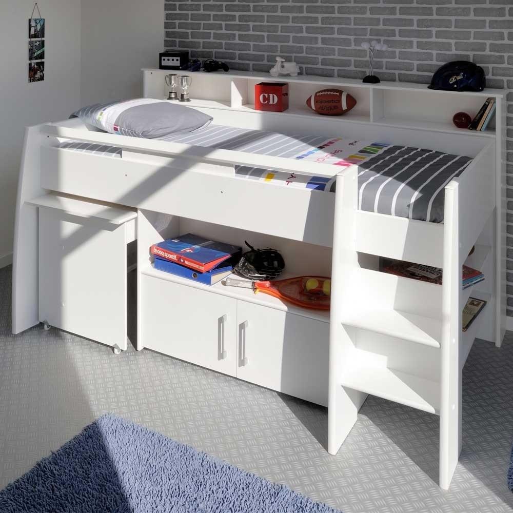 Hochbett Mit Schreibtisch  Kinder Hochbett Tokatas mit Schreibtisch