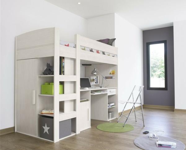 Hochbett Mit Schreibtisch  Hochbett mit Schreibtisch für das Kinderzimmer