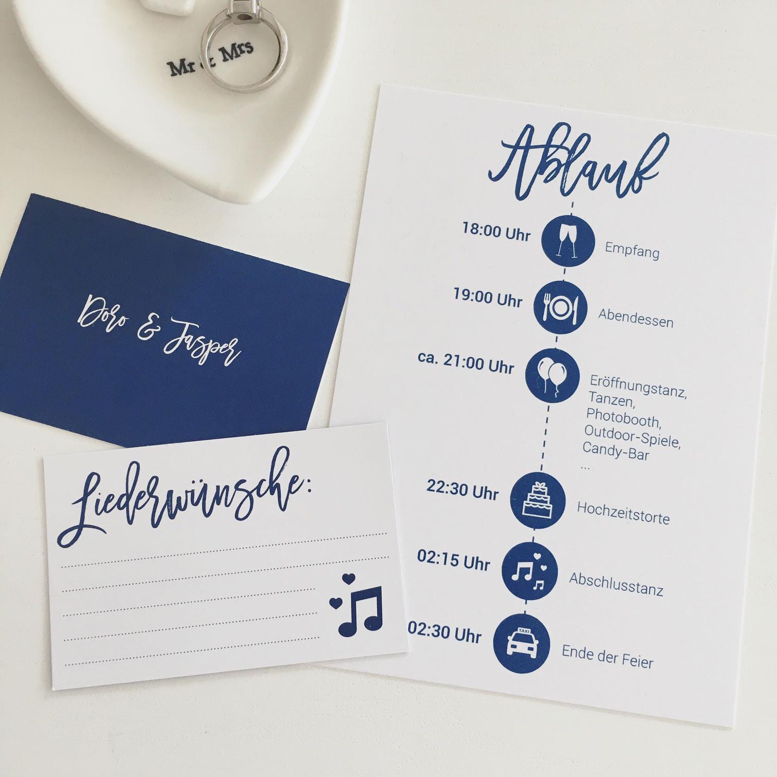 Hochzeit Ablauf  Unsere Hochzeits Printsachen & Tipps wirheiraten