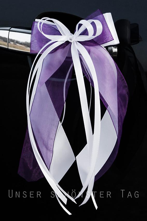 Hochzeit Autoschleifen  Unser schönster Tag 10 x Antennenschleifen Autoschleifen