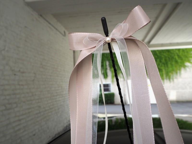 Hochzeit Autoschleifen  10 Antennenschleifen Creme Latte Macchiato Schleifen