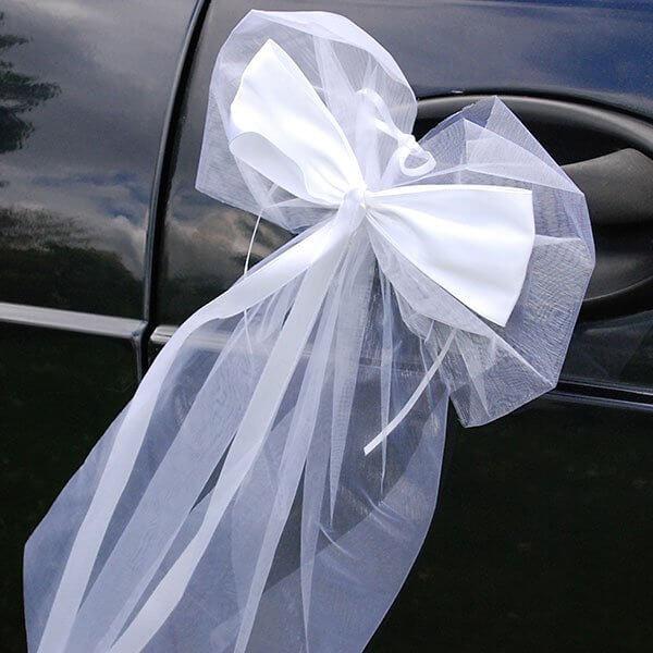"""Hochzeit Autoschleifen  Autodeko Set """"Just Married"""" zur Hochzeit weddix"""