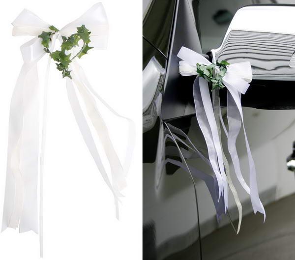 Hochzeit Autoschleifen  Autoschleifen für Hochzeit nach Anleitung selber basteln