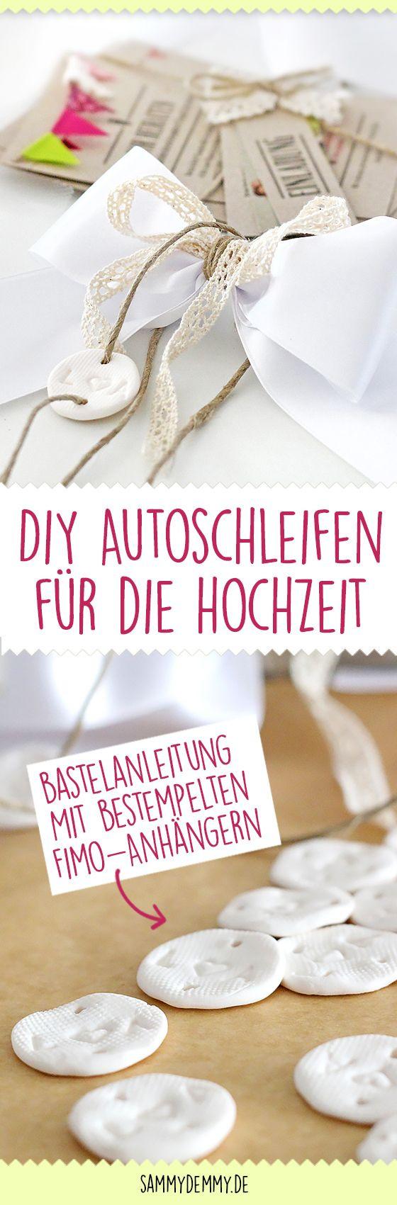 Hochzeit Autoschleifen  Wunderschöne DIY Autoschleifen für Hochzeit Anleitung