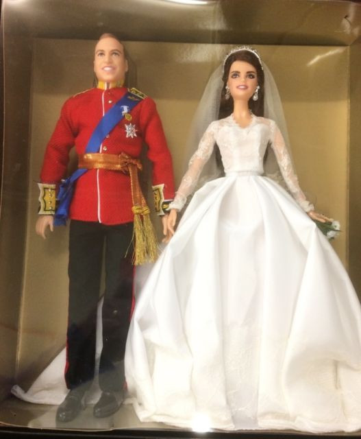 Hochzeit Barbie  Mattel Gold Label Barbie Prince William and Catherine
