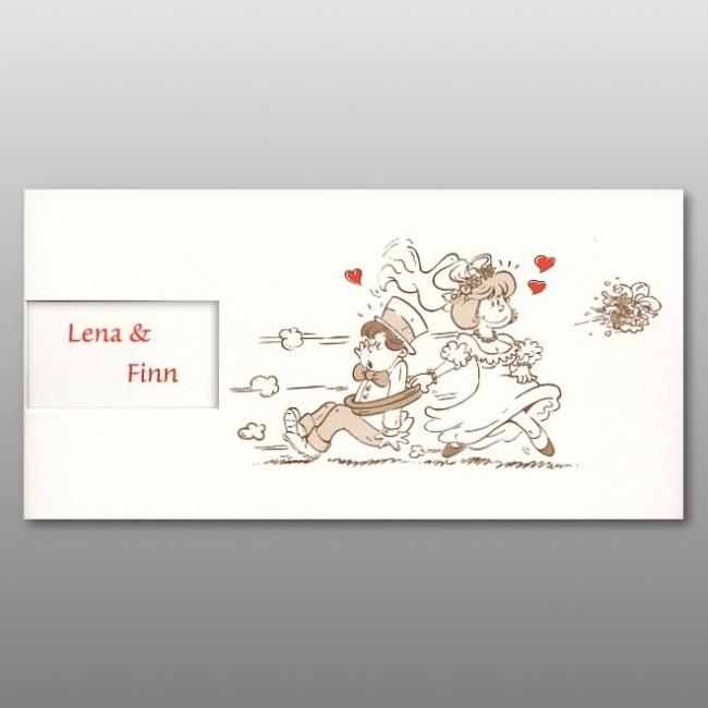 Hochzeit Bilder Comic  Lustige ic Einladungskarte zur Hochzeit