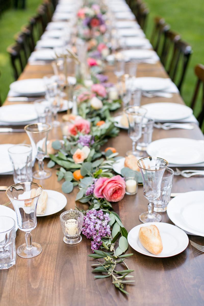 Hochzeit Blumen Tischdeko  Hochzeitsdeko selber machen Ideen für Tischdeko