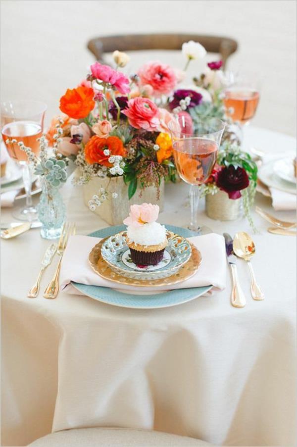 Hochzeit Blumen Tischdeko  Vintage Tischdeko zur Hochzeit 100 faszinierende Ideen